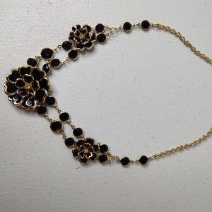 Black costume jewelry necklace